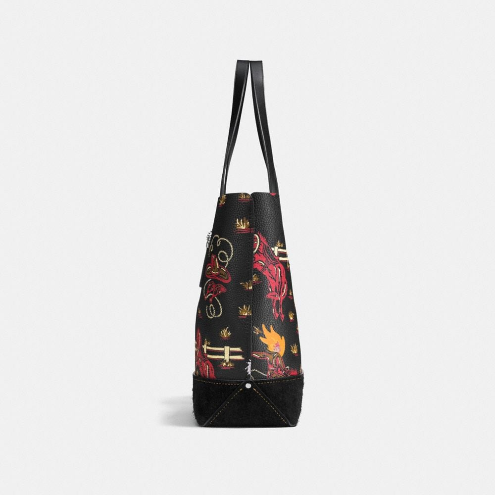 Coach Gotham Tote in Wild Western Print Pebble Leather Alternate View 1