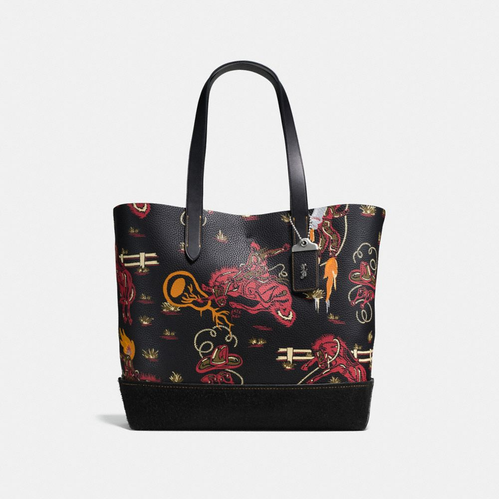 Coach Gotham Tote in Wild Western Print Pebble Leather