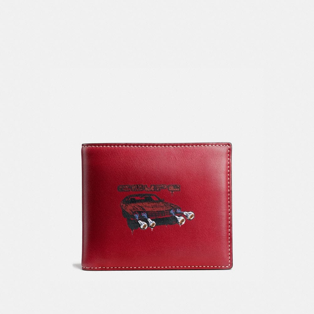 3-In-1 Wallet in Glovetanned Leather With Wild Car