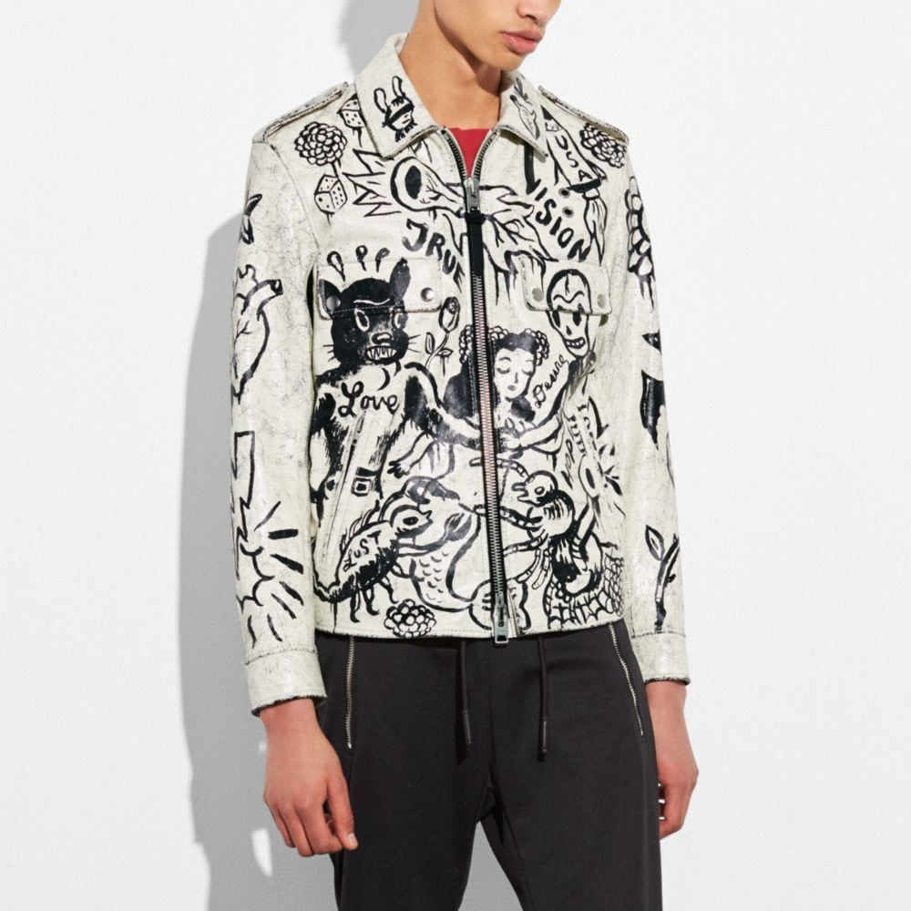 Coach Printed Officer Jacket