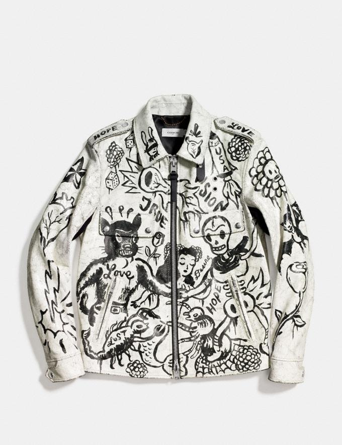Coach Printed Officer Jacket White Runway Shop Men Ready-to-Wear Alternate View 1