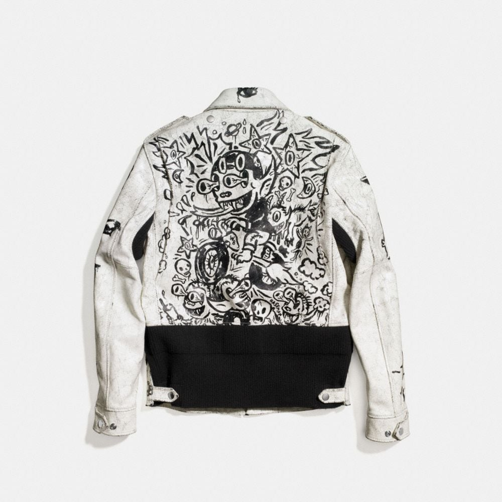 Coach Printed Officer Jacket Alternate View 2
