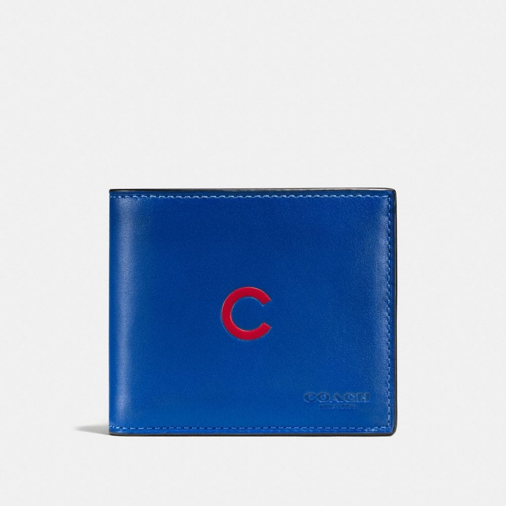 3-IN-1 WALLET IN SPORT CALF LEATHER WITH MLB TEAM LOGO - Alternate View