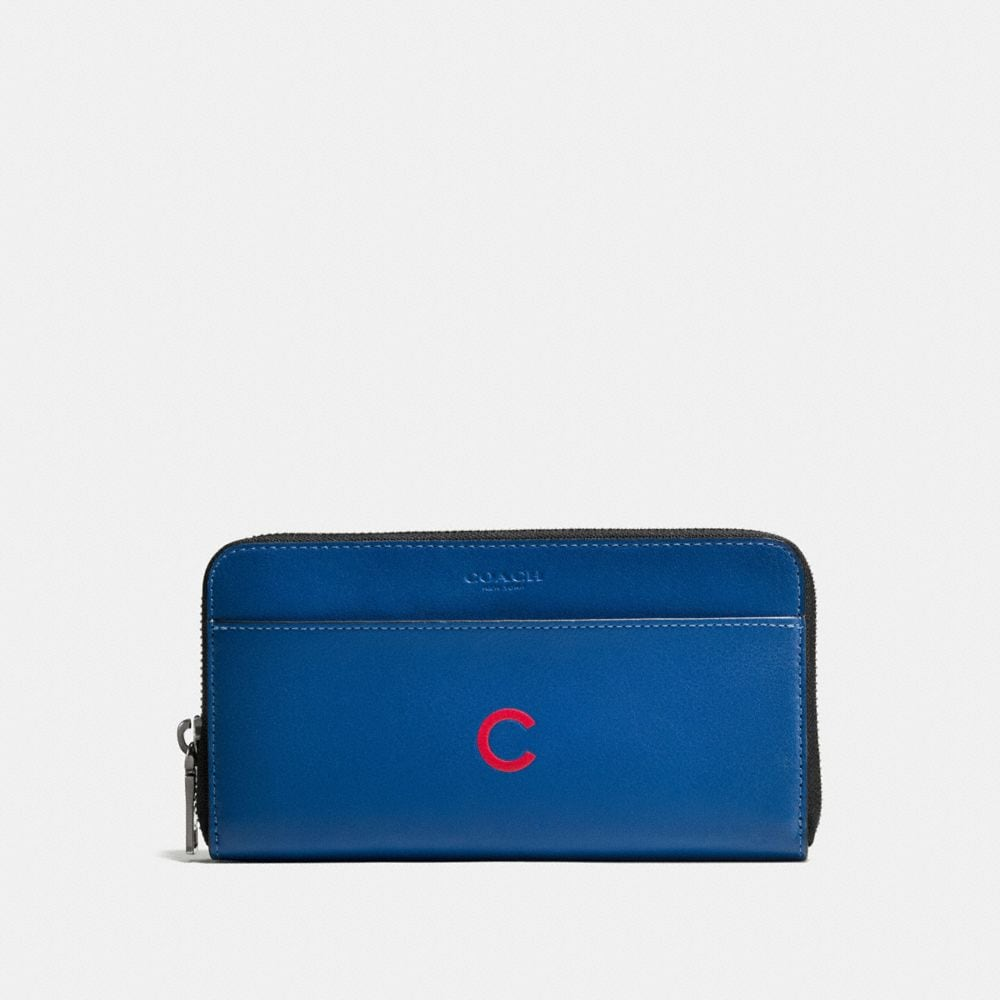 Coach Mlb Accordion Wallet in Sport Calf Leather