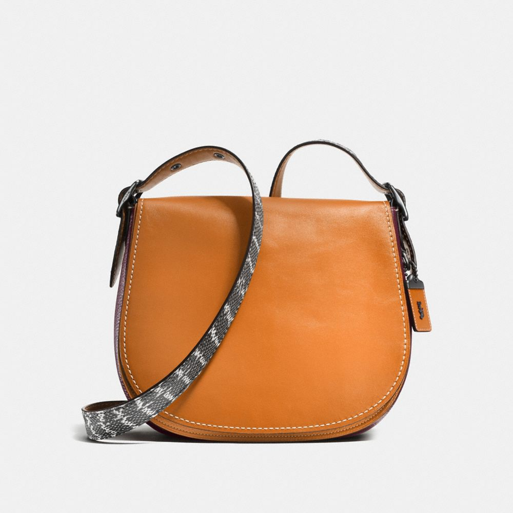 Coach Saddle With Colorblock Snakesin Detail