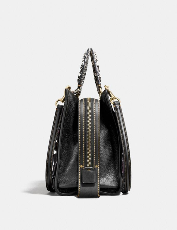 Coach Rogue With Snakeskin Tea Rose Black/Brass Women Collection Rogue Alternate View 1