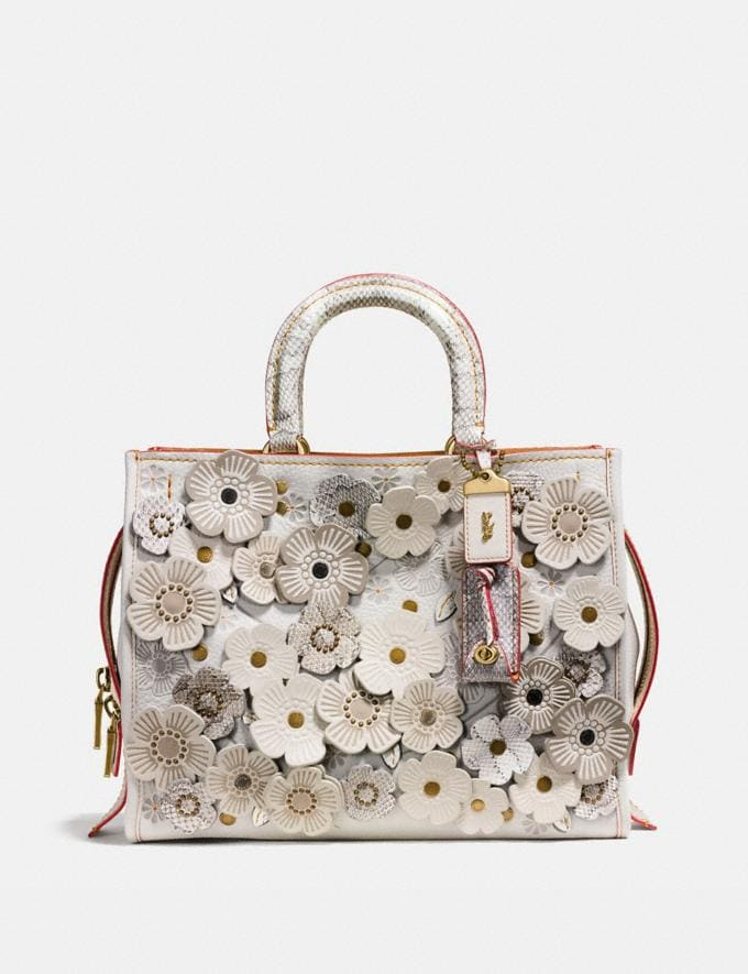 Coach Rogue With Snakeskin Tea Rose Ol/Chalk Bags