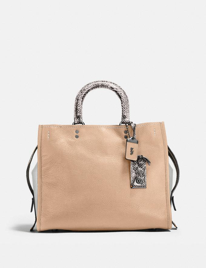 Coach Rogue With Colorblock Snakeskin Detail Bp/Beechwood Deals Bags