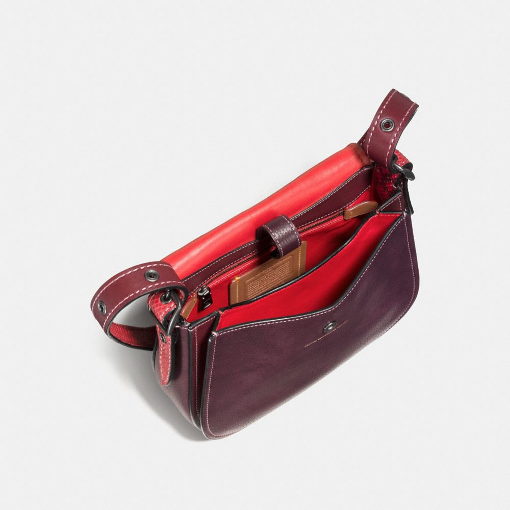 Coach Saddle 23 With Colorblock Snakeskin Detail Alternate View 2