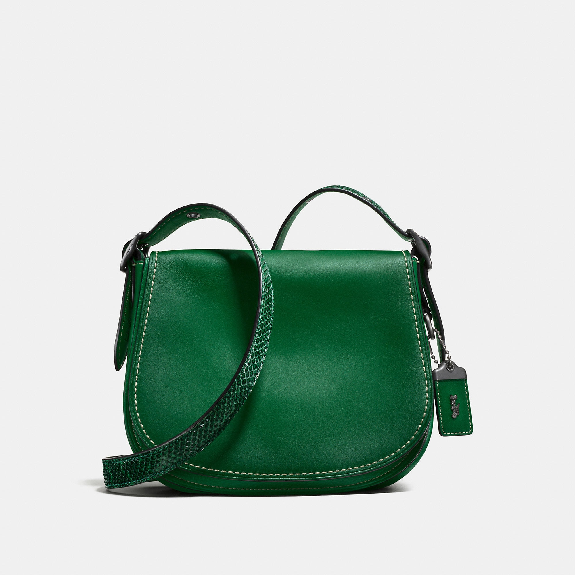 Coach Saddle Bag 23 With Colorblock Snake Detail