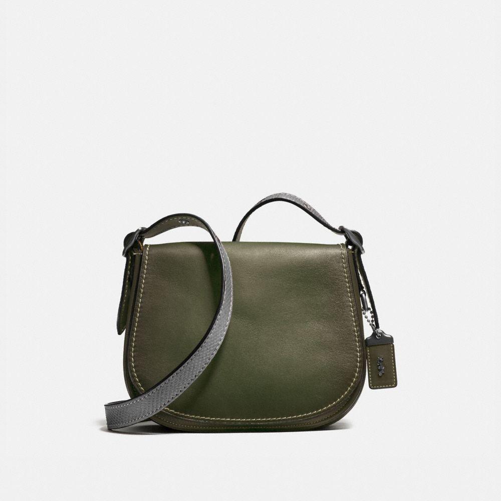Saddle Bag 23 With Colorblock Snake Detail
