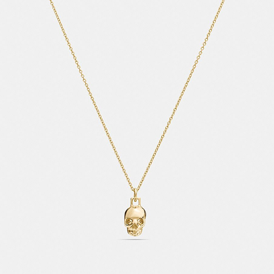 plated up trace skull pendants sm small sterling sil silver product gold f necklace