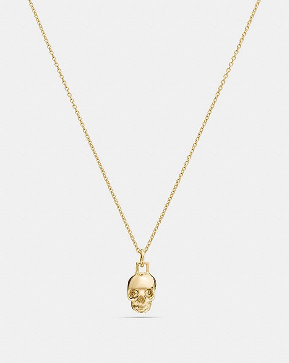Coach mini 18k gold plated skull necklace coach mini 18k gold plated skull necklace aloadofball Gallery