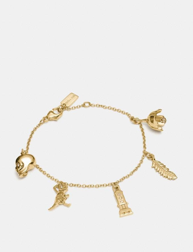 Coach Mini Demi-Fine Charm Mix Bracelet Gold