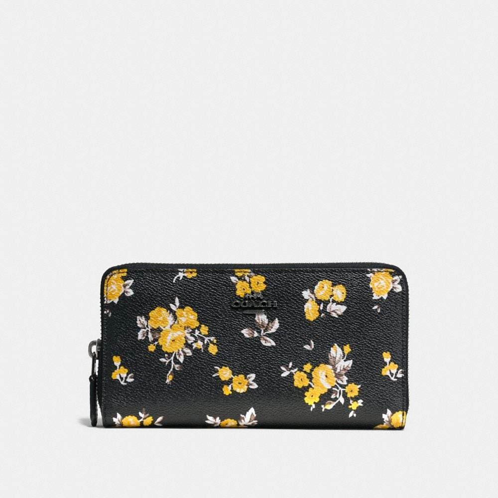 Coach Accordion Zip Wallet With Prairie Print