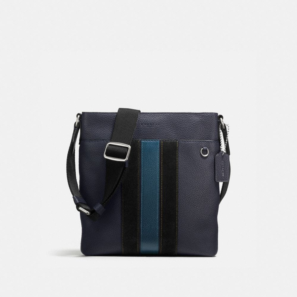 METROPOLITAN SLIM MESSENGER IN PEBBLE LEATHER