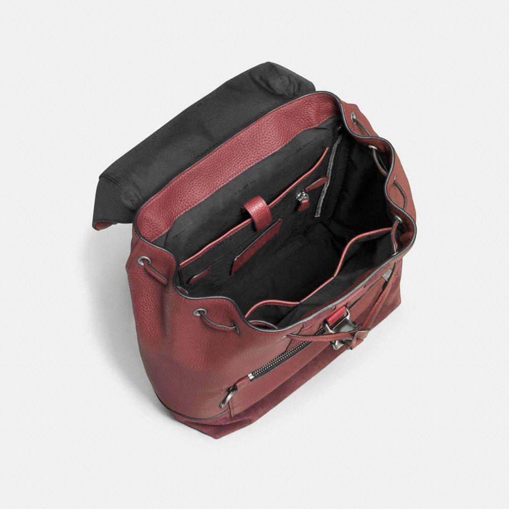 Manhattan Backpack in Rebel Varsity Pebble Leather - Alternate View A2