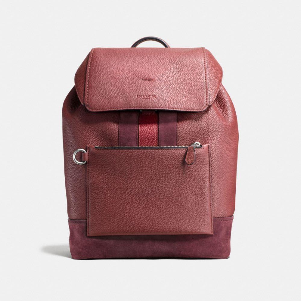 Manhattan Backpack in Rebel Varsity Pebble Leather
