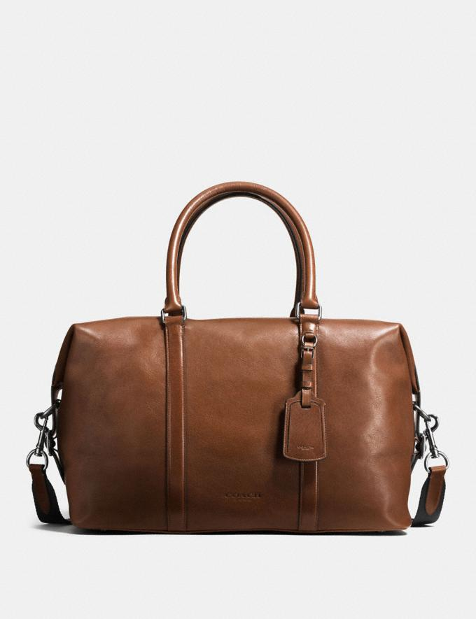Coach Explorer Bag in Sport Calf Leather Black Antique Nickel/Dark Saddle Uomo Borse Borse larghe e borsoni