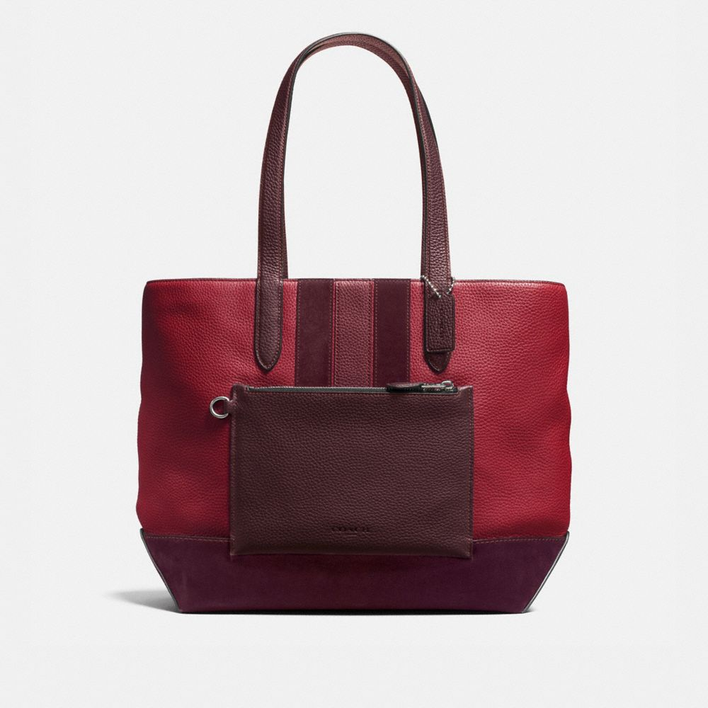 METROPOLITAN SOFT TOTE IN REBEL VARSITY PEBBLE LEATHER