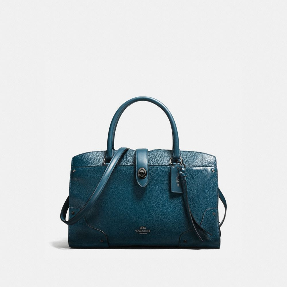 Coach Mercer Satchel 30 With Whiplash Detail