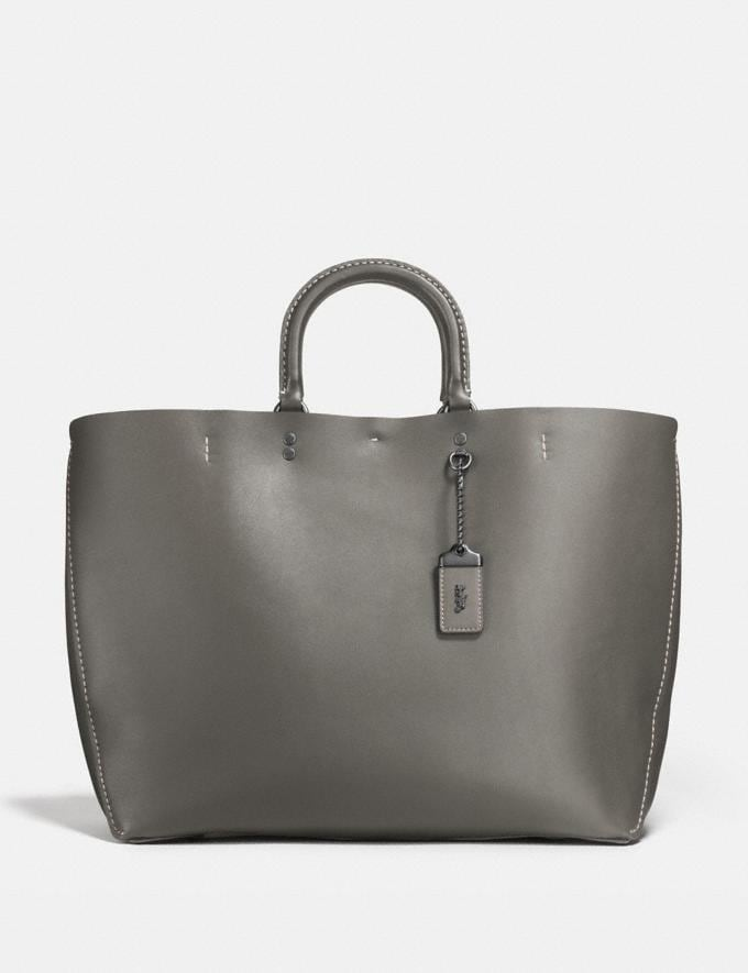 Coach Rogue Tote Heather Grey/Black Copper