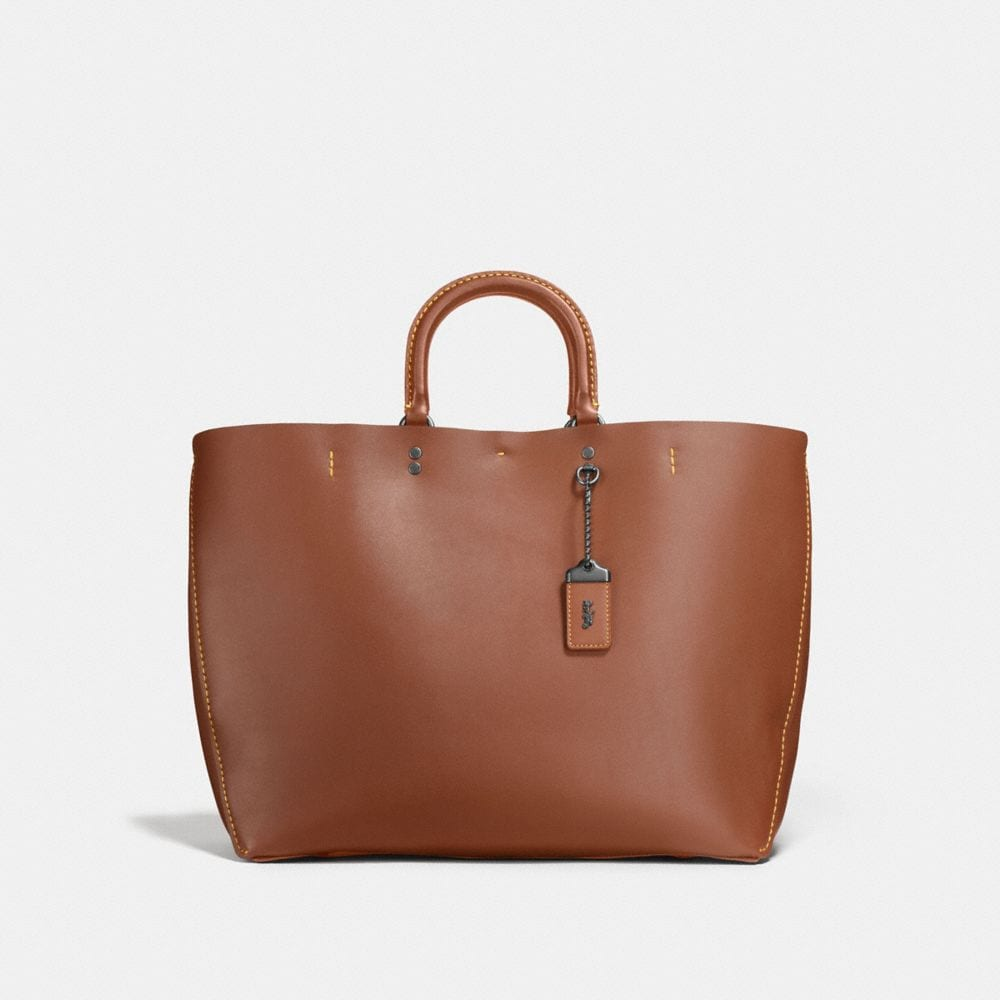 Coach Leathers COACH ROGUE TOTE IN GLOVETANNED CALF LEATHER