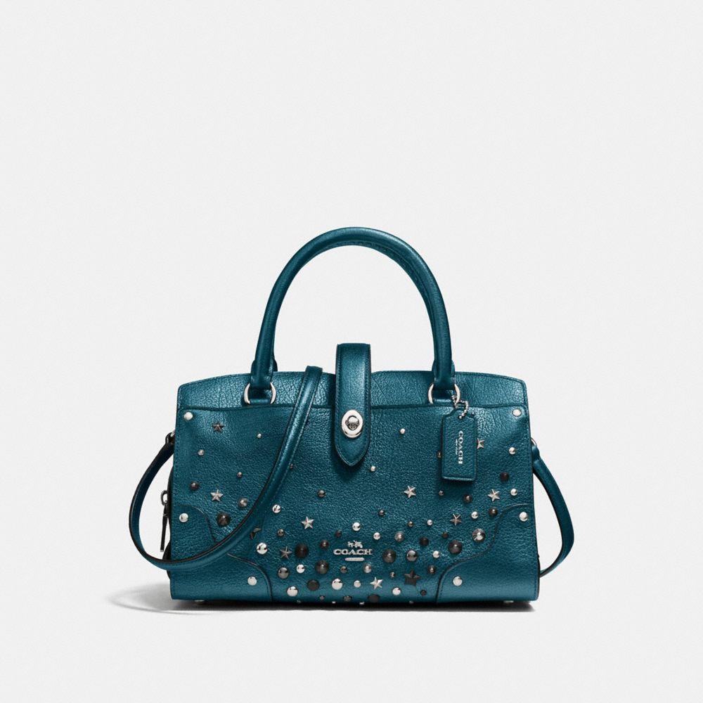 Coach Mercer Satchel 24 With Star Rivets