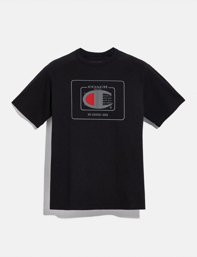 Coach T-Shirt Coach X Champion Noir