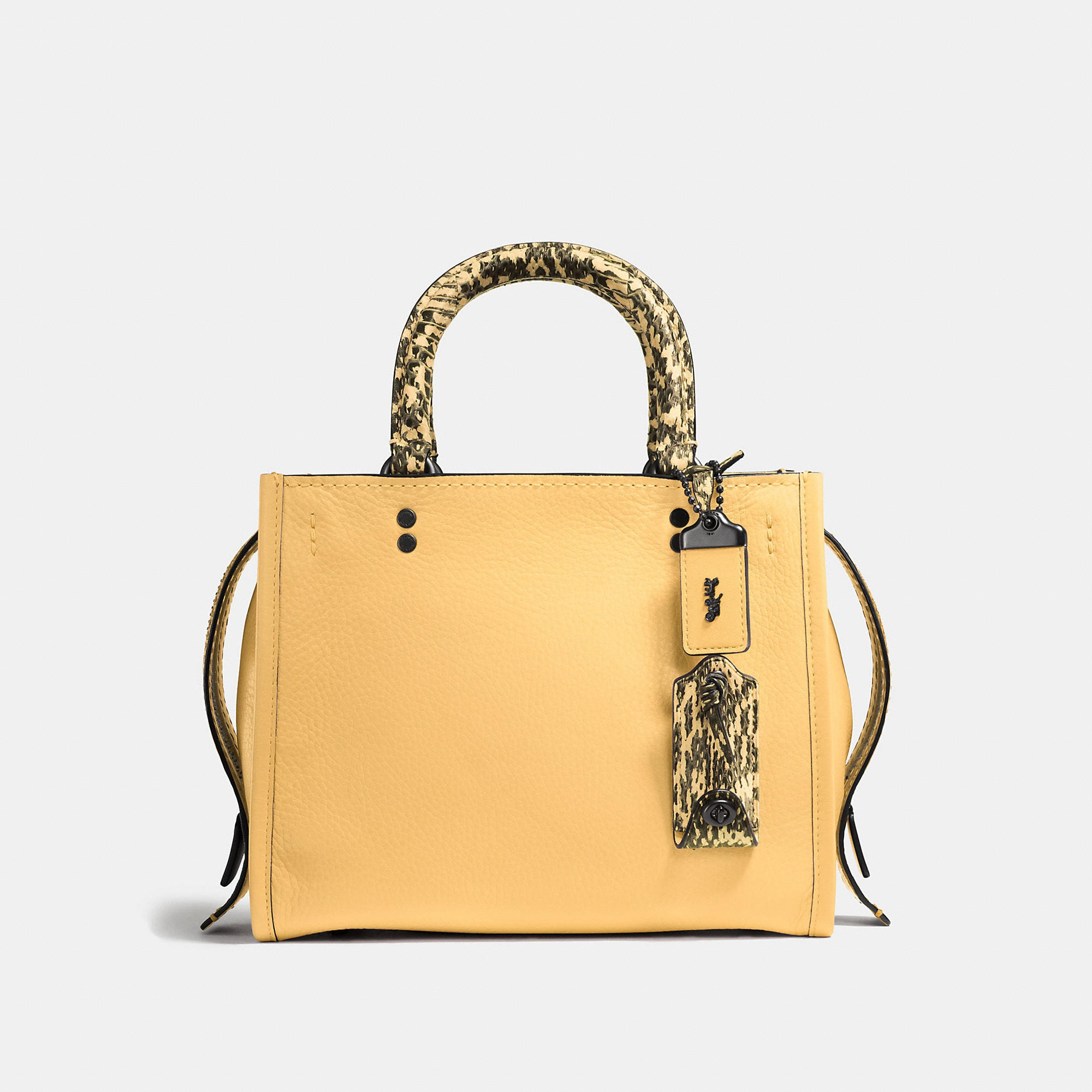 Coach Rogue 25 In Glovetanned Pebble Leather With Colorblock Snake