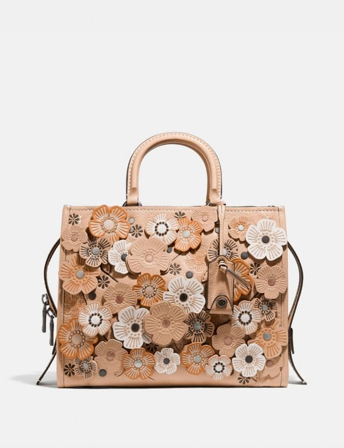 Coach Rogue With Tea Rose Beechwood/Black Copper Women Collection Rogue