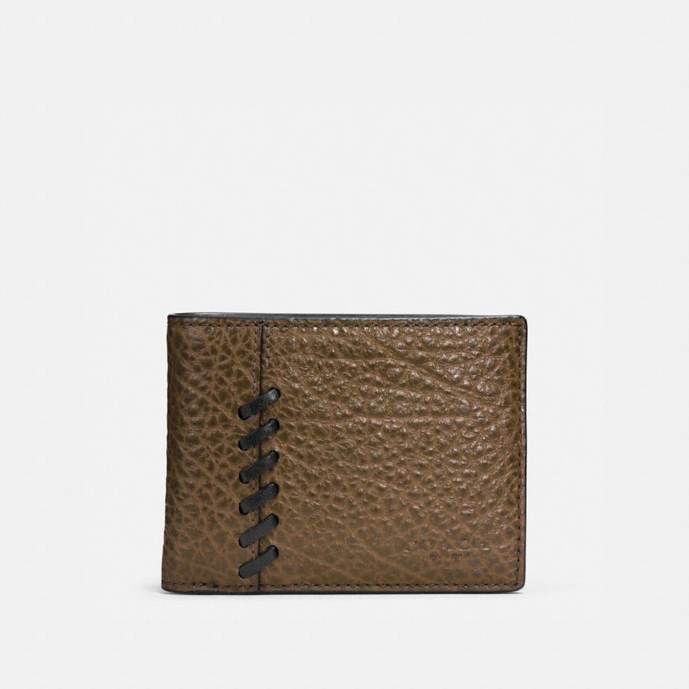RIP AND REPAIR SLIM BILLFOLD WALLET IN BUFFALO EMBOSSED LEATHER