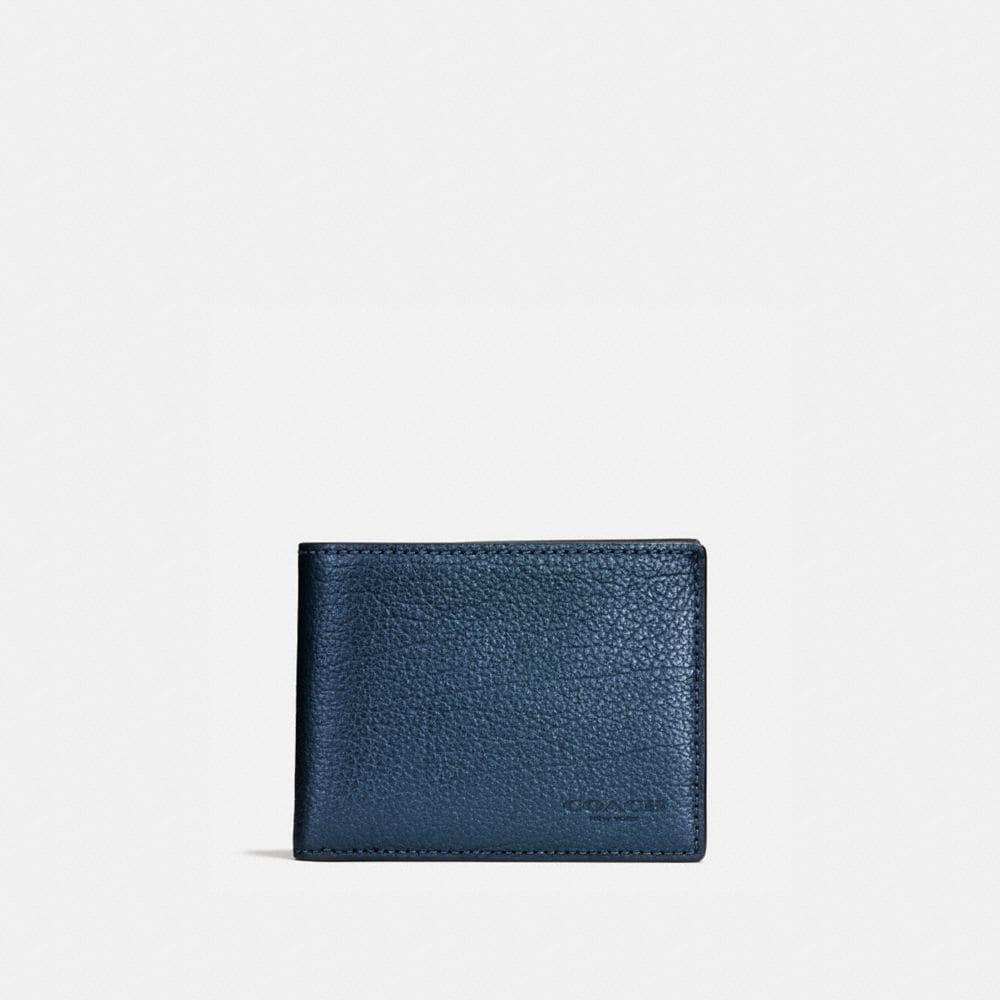 Slim Billfold in Metallic Leather