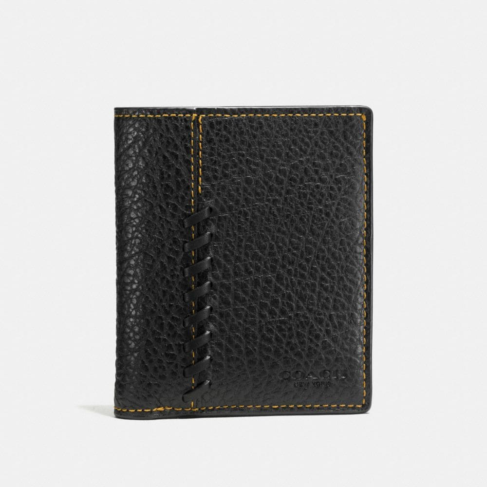 Coach Rip and Repair Slim Coin Wallet in Buffalo Embossed Leather
