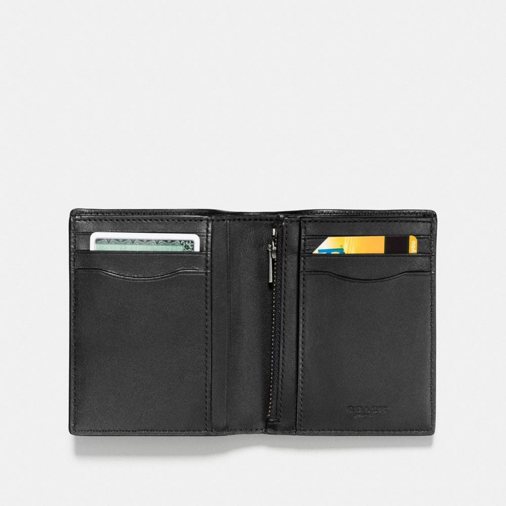 Coach Slim Coin Wallet in Signature Leather Alternate View 1