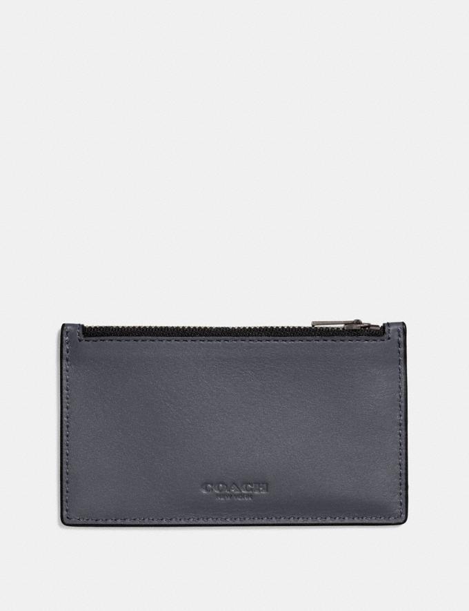 Coach Zip Card Case Graphite Men Wallets Card Cases