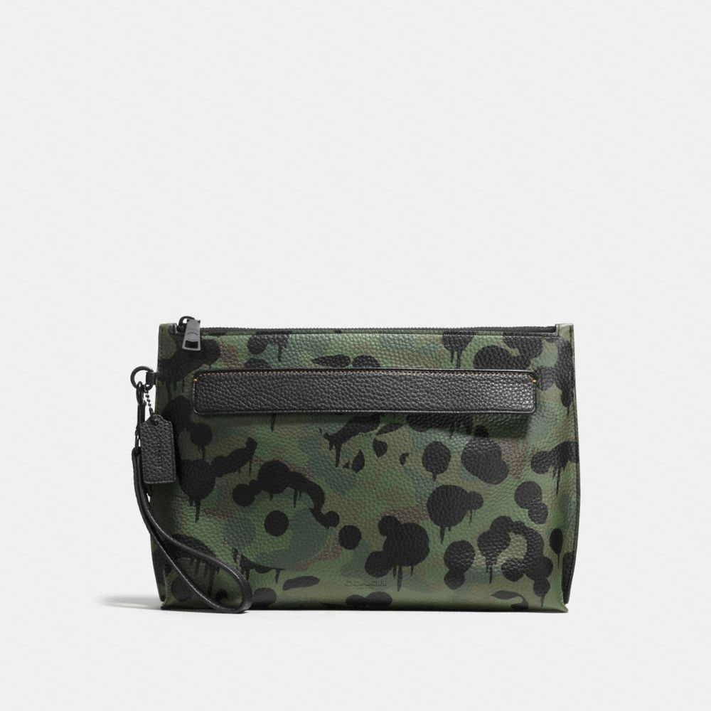 POUCH WITH WILD BEAST PRINT