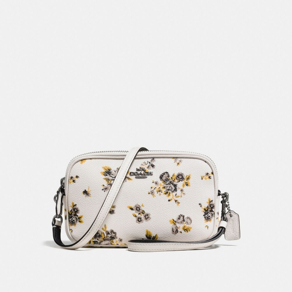 CROSSBODY CLUTCH IN PRAIRIE PRINT COATED CANVAS