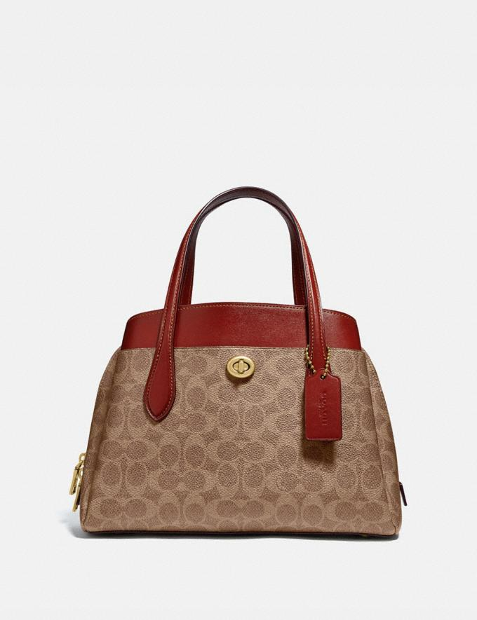 Coach Lora Carryall 30 in Signature Canvas B4/Tan Rust New Women's New Arrivals