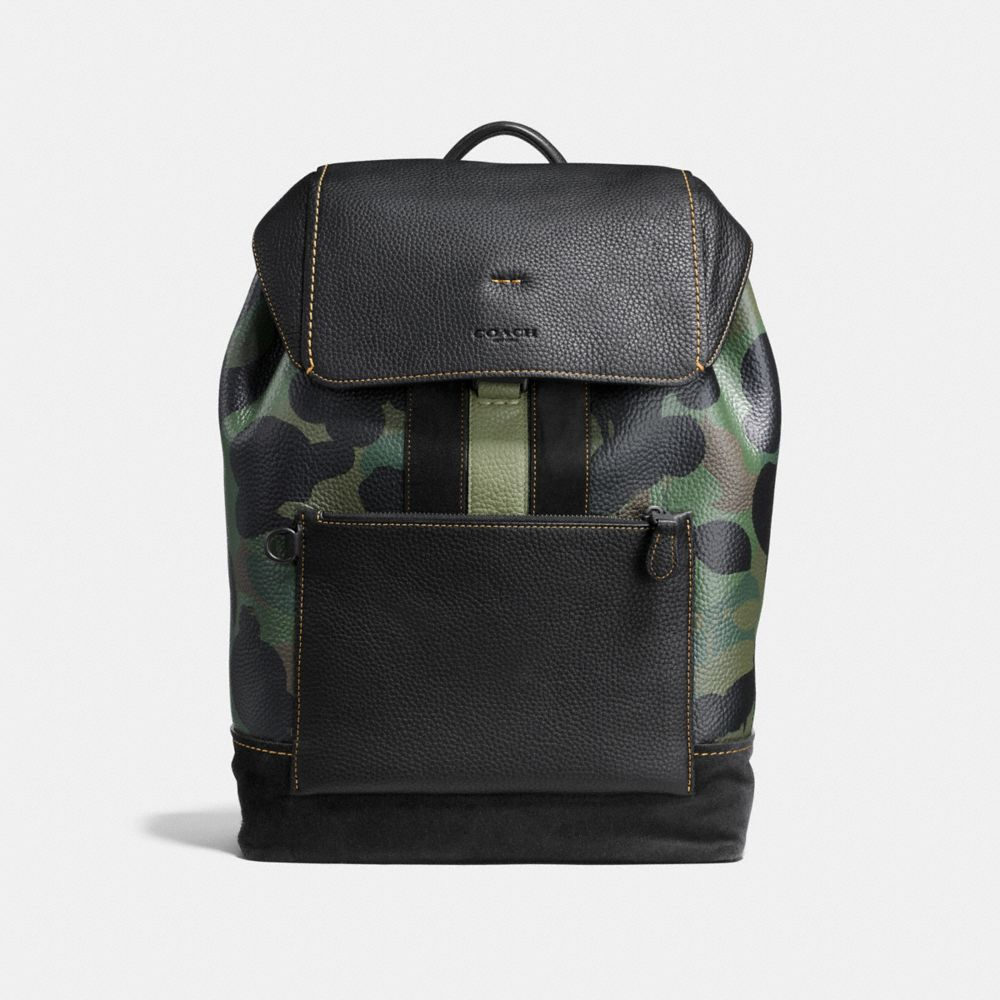 MANHATTAN BACKPACK IN WILD BEAST PEBBLE LEATHER