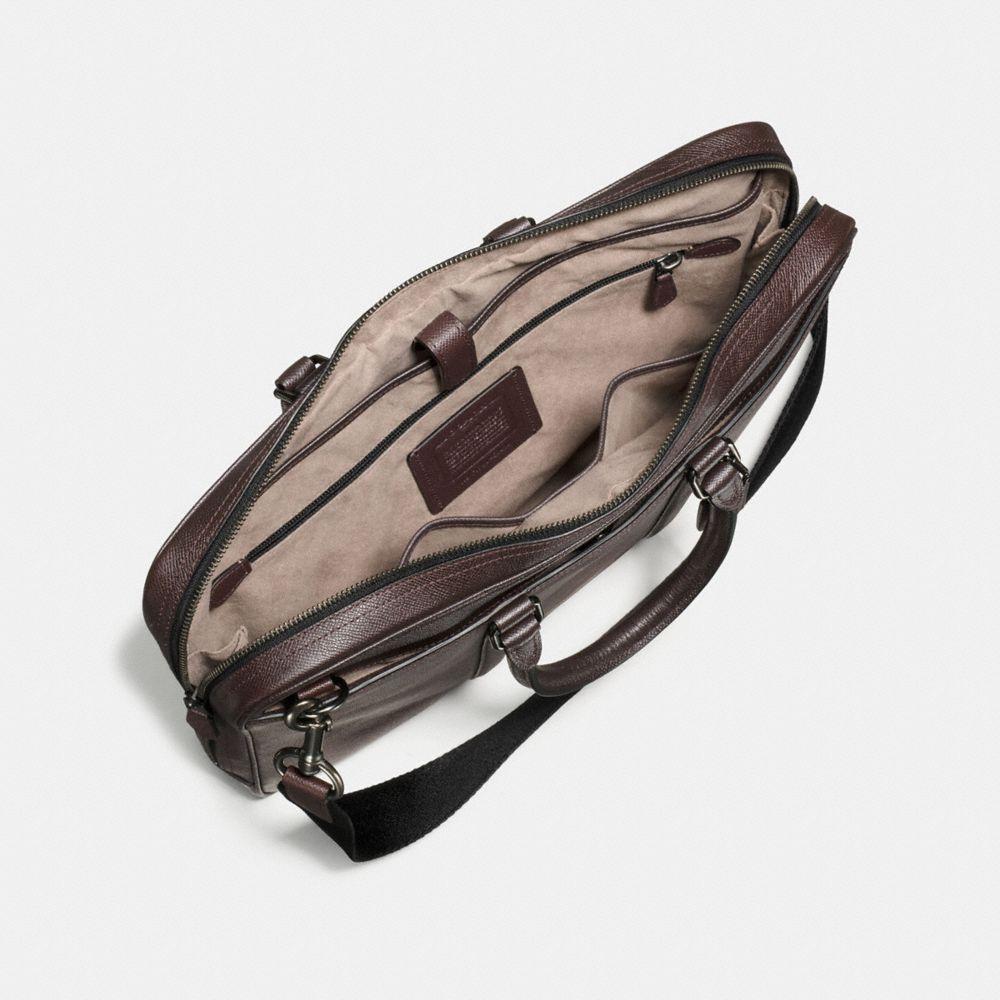 Metropolitan Slim Brief in Burnished Crossgrain Leather - Alternate View A2