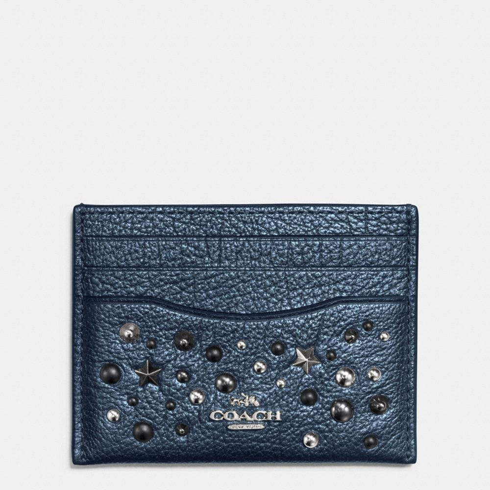 CARD CASE WITH STAR RIVETS
