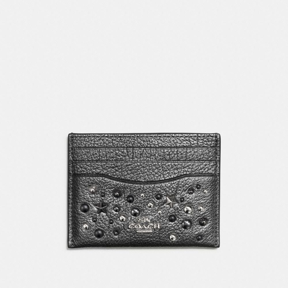 Coach Card Case With Star Rivets