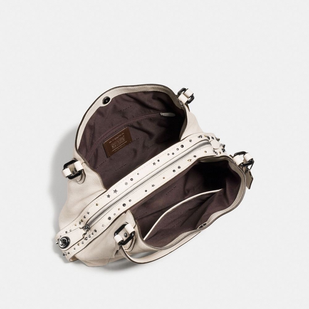 Edie Shoulder Bag 31 in Polished Pebble Leather With Star Rivets - Alternative Ansicht A2