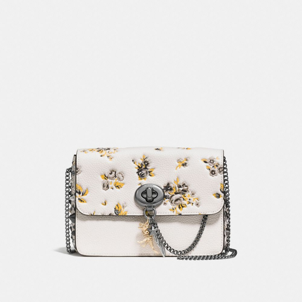 BOWERY CROSSBODY IN POLISHED PEBBLE LEATHER WITH REBEL CHARM