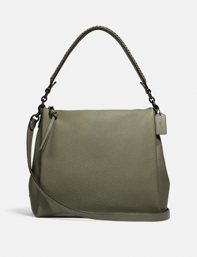 Coach Shay Shoulder Bag With Whipstitch Detail Pewter/Light Fern Women Handbags Shoulder Bags & Hobos