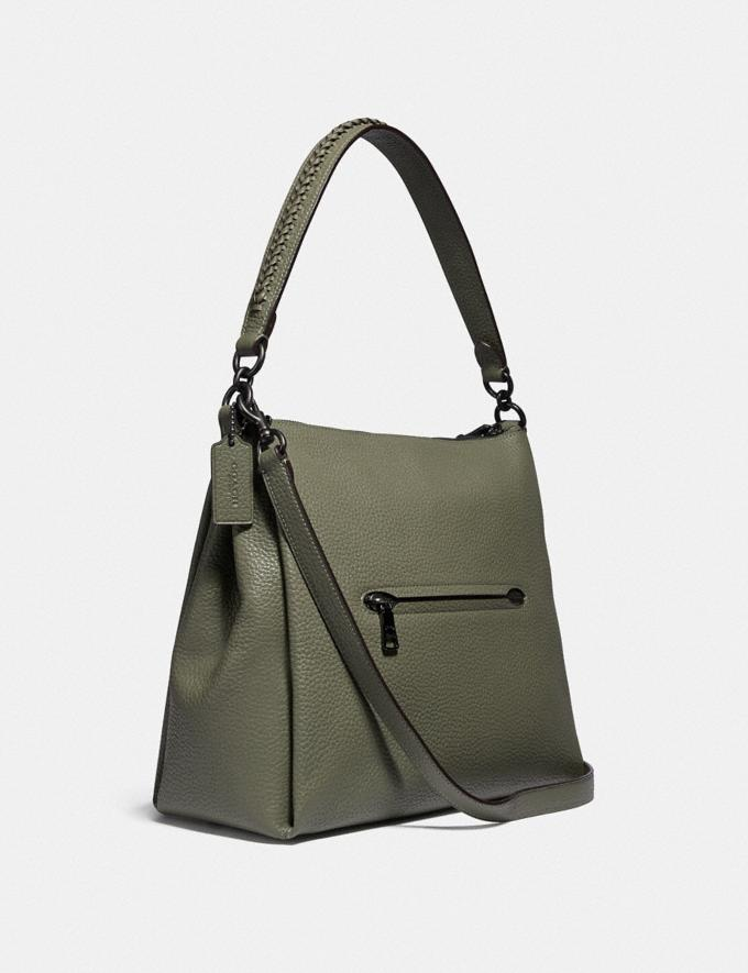 Coach Shay Shoulder Bag With Whipstitch Detail Pewter/Light Fern Women Handbags Shoulder Bags & Hobos Alternate View 1