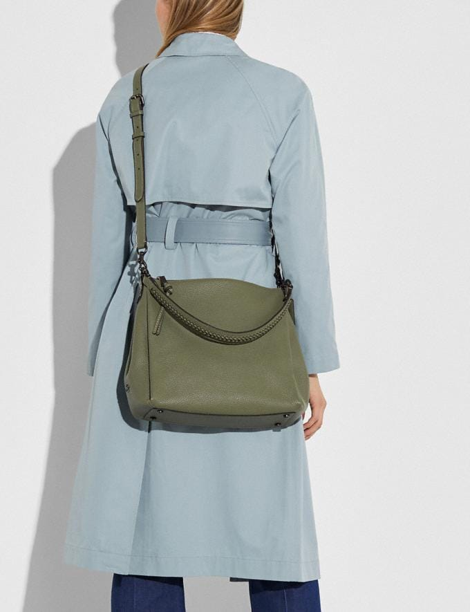Coach Shay Shoulder Bag With Whipstitch Detail Pewter/Light Fern Women Handbags Shoulder Bags & Hobos Alternate View 4