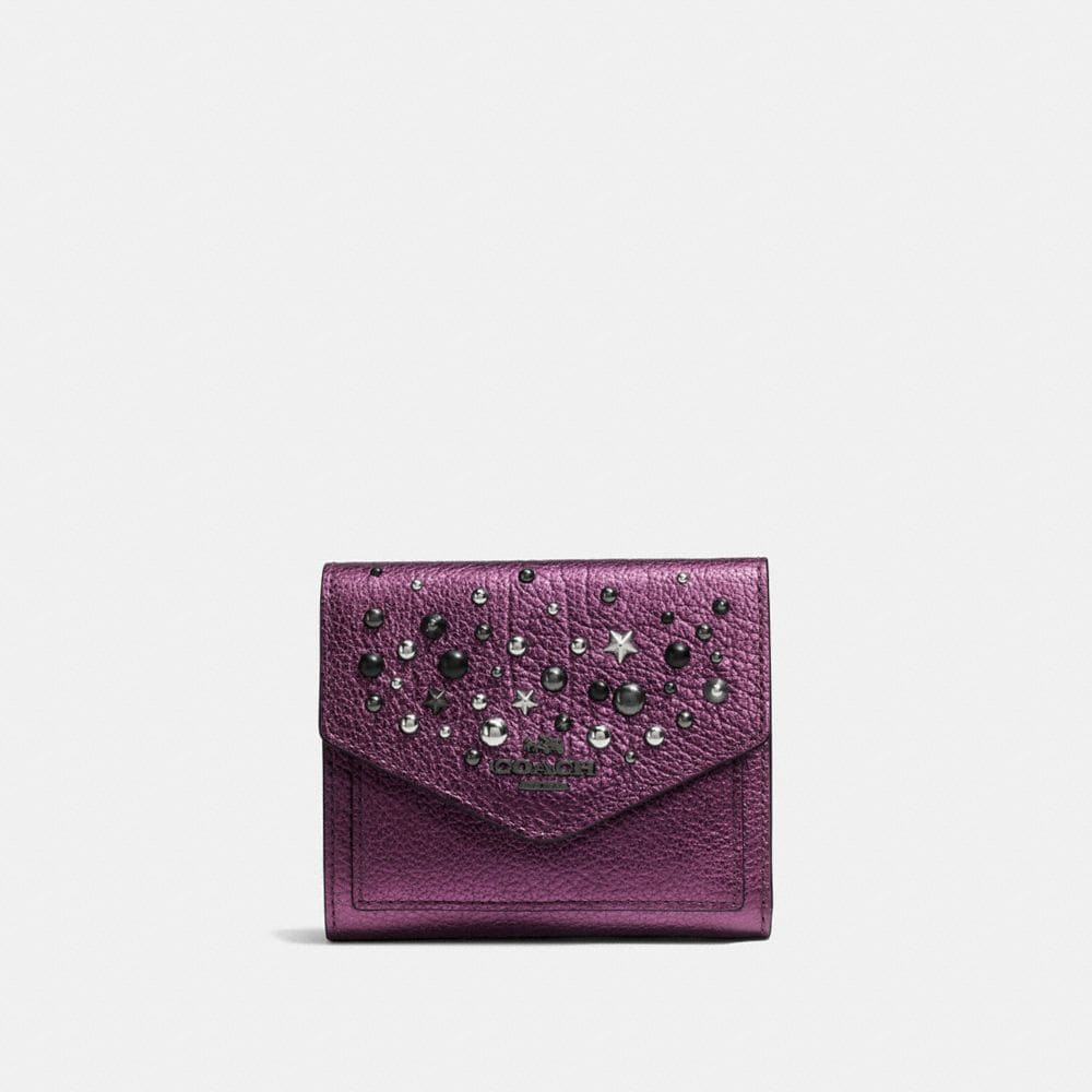 Coach Small Wallet With Star Rivets