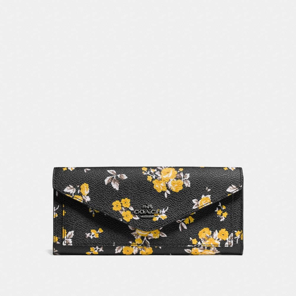 SOFT WALLET IN PRAIRIE PRINT COATED CANVAS